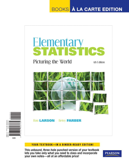 Larson & Farber, Elementary Statistics: Picturing the World, Books a