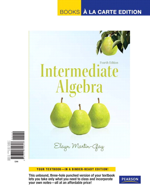Intermediate Algebra, Books a La Carte Edition (4th Edition)
