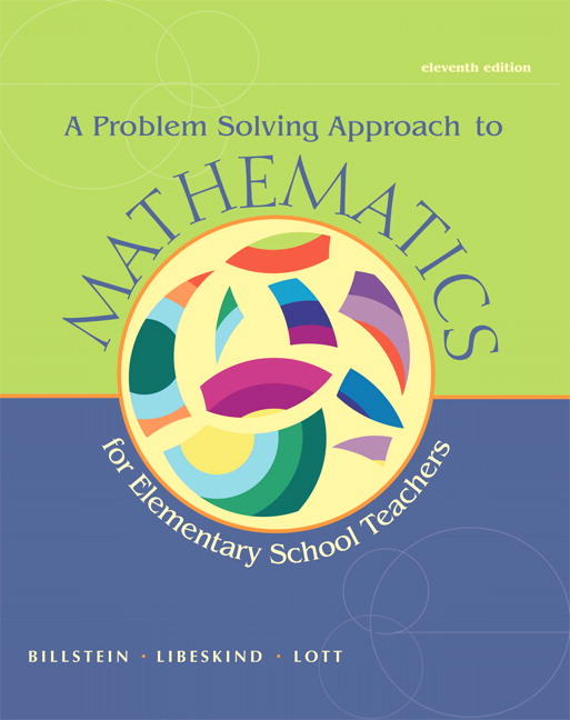 billstein a problem solving approach to math for elementary school teachers