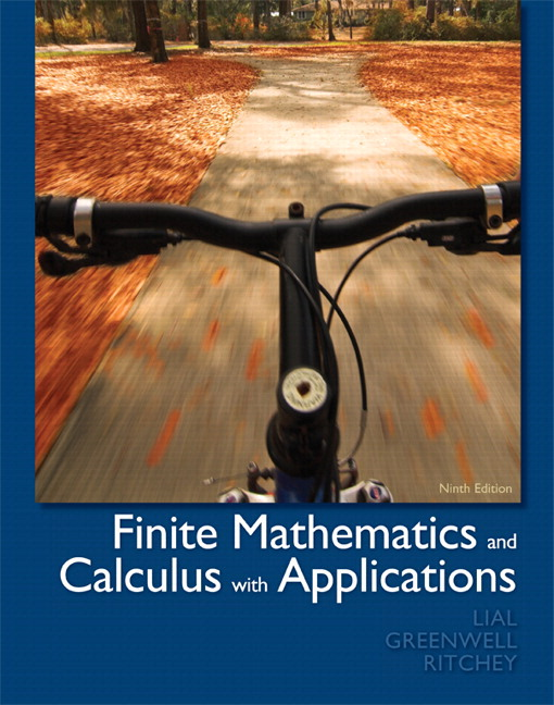 Lial greenwell ritchey finite mathematics and calculus with finite mathematics and calculus with applications plus mylab fandeluxe Gallery