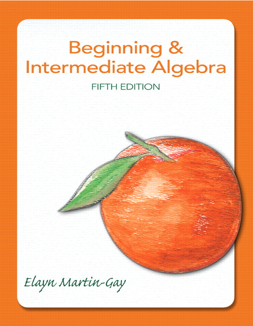 The Martin-Gay Developmental Math Series Pearson