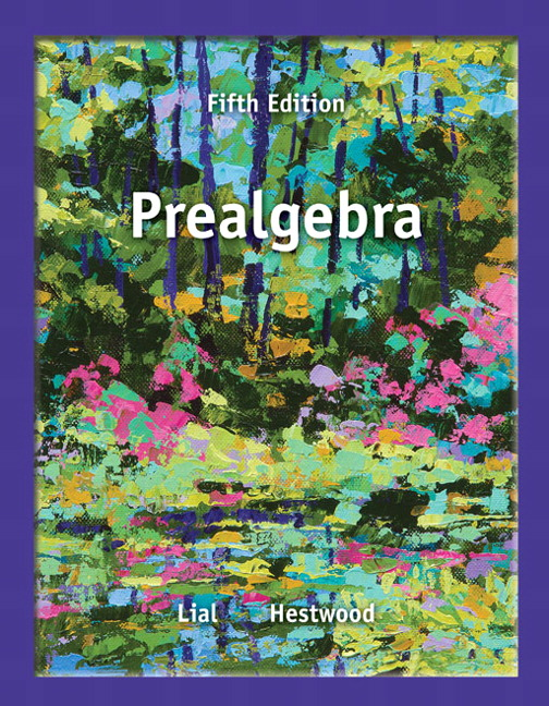 Lial hestwood prealgebra 5th edition pearson prealgebra 5th edition fandeluxe Gallery