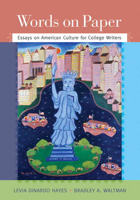 dinardo hayes  amp  waltman  words on paper  essays on american    words on paper  essays on american culture for college writers    new mywritinglab student