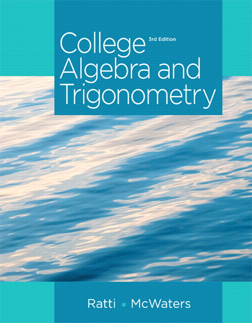 Pearson education mymathlab pearson college algebra and trigonometry 3rd edition fandeluxe Gallery
