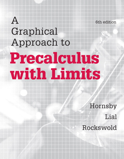 Hornsby, Lial & Rockswold, A Graphical Approach to