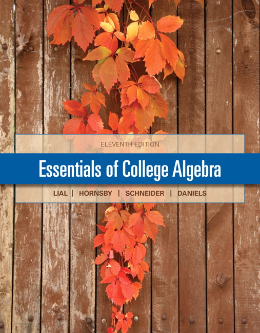 Pearson education pearson education mylab math valuepack essentials of college algebra 11th edition fandeluxe Image collections