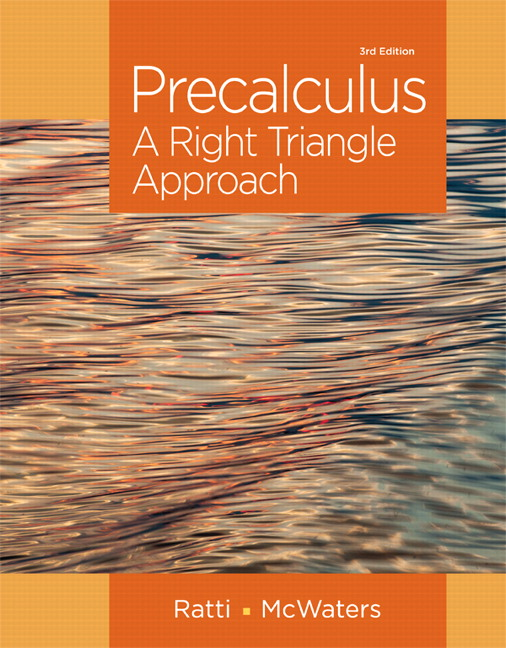 Ratti & McWaters, Precalculus: A Right Triangle Approach ...