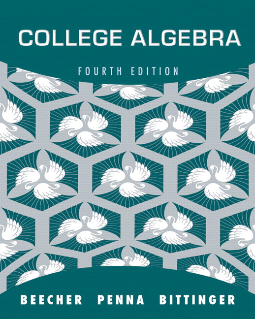 Beecher Penna Bittinger College Algebra with Integrated Review – College Algebra Worksheets