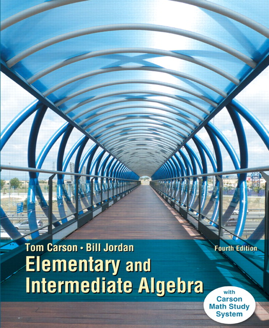 Carson jordan elementary and intermediate algebra 4th edition elementary and intermediate algebra 4th edition fandeluxe Gallery