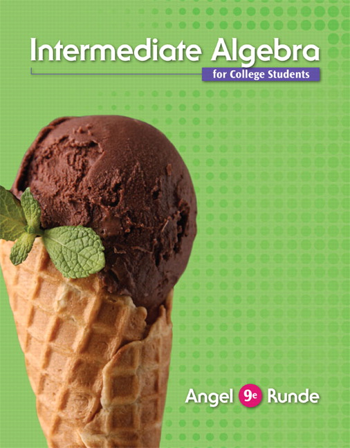 Angel runde intermediate algebra for college students pearson intermediate algebra for college students subscription 9th edition fandeluxe Image collections
