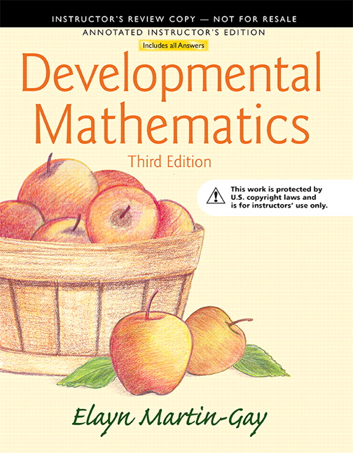 Annotated Instructor's Edition for Developmental Mathematics