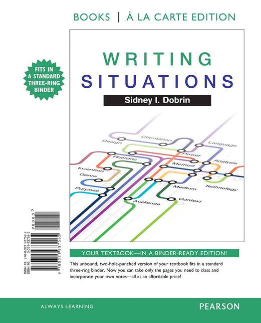Dobrin writing situations pearson book cover fandeluxe Choice Image