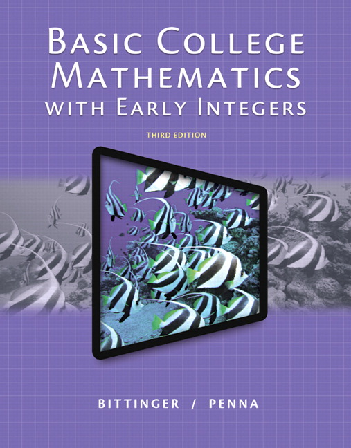 Basic College Mathematics with Early Integers, 3rd Edition