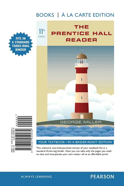 The Prentice Hall Reader, Books a la Carte Edition