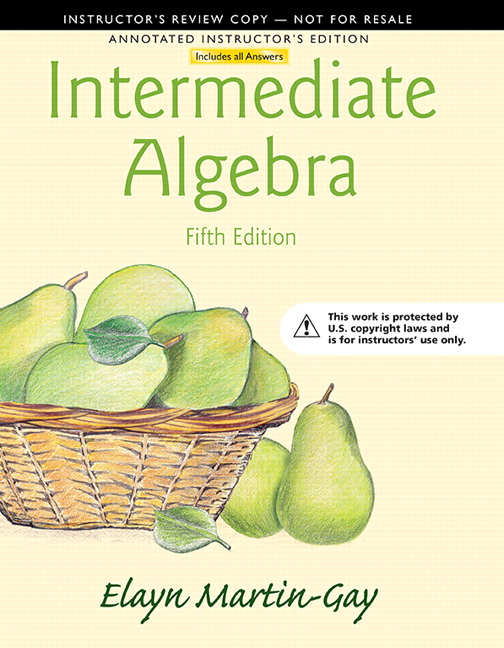 Annotated Instructor's Edition for Intermediate Algebra