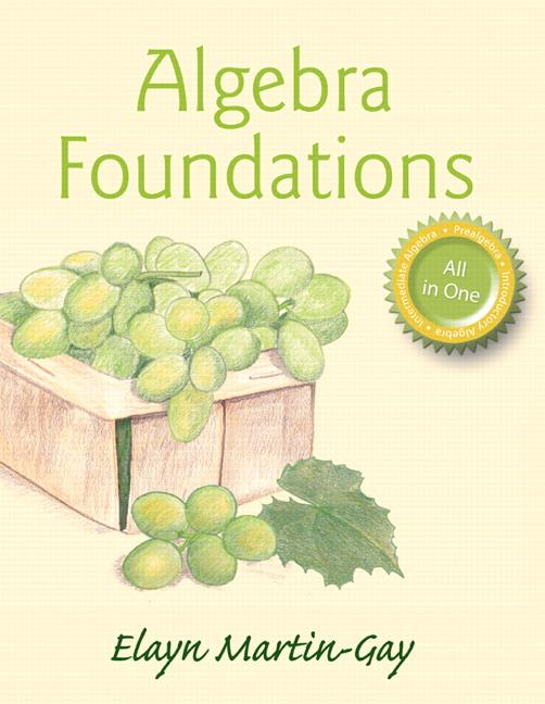 Algebra Foundations: Prealgebra, Introductory Algebra, & Intermediate Algebra (Subscription)