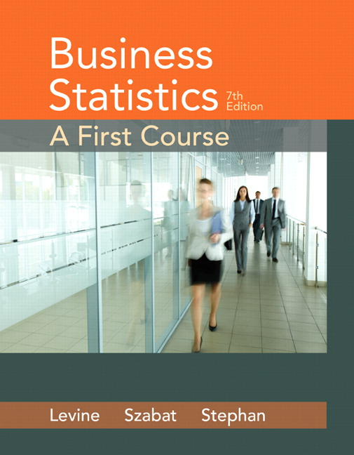 Levine Szabat Stephan Business Statistics A First