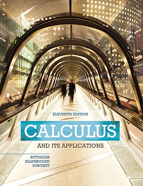 Bittinger ellenbogen surgent calculus and its applications pearson calculus and its applications subscription 11th edition fandeluxe Choice Image