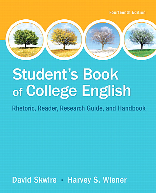 Skwire wiener students book of college english pearson students book of college english subscription 14th edition fandeluxe Gallery