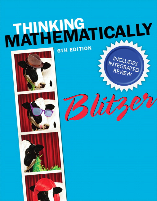 Thinking Mathematically with Integrated Review and Learning Guide plus NEW MyLab Math with Pearson eText -- Access Card Package