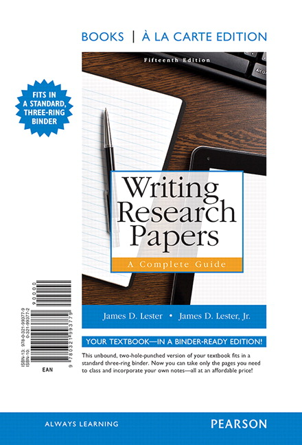 Writing Research Papers: A Complete Guide, Books A La Carte Edition, 15th  Edition