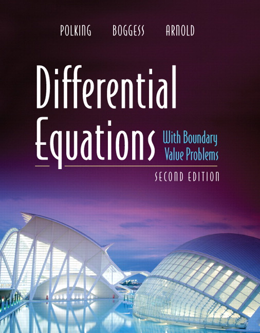 differential equations with boundary value problems 2nd edition solutions manual