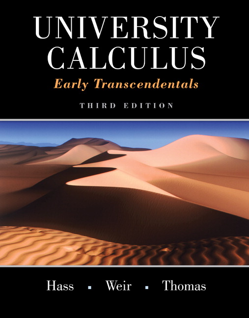 Hass, Weir & Thomas, University Calculus: Early