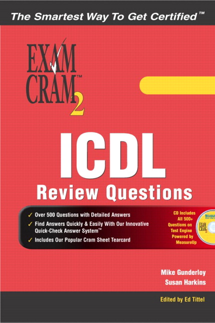 gunderloy harkins icdl review exercises exam cram 2 pearson