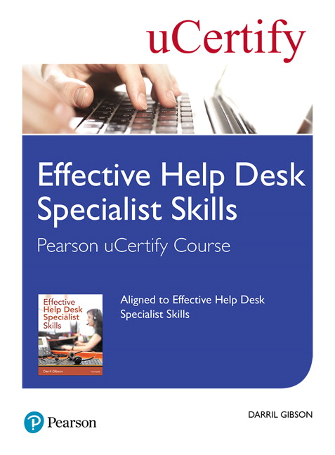 Effective Help Desk Specialist Skills Pearson UCertify ...