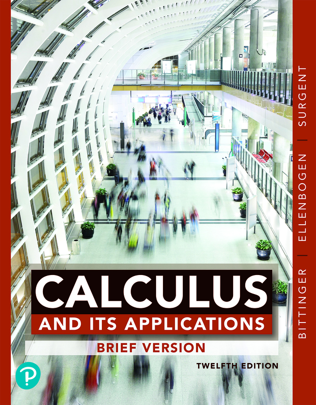 Calculus and Its Applications: Brief Version, 12th Edition