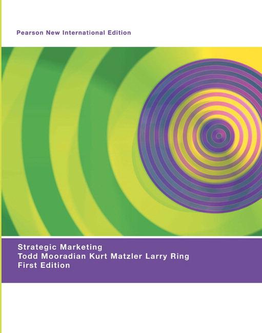 Strategic Marketing: Pearson New International Edition