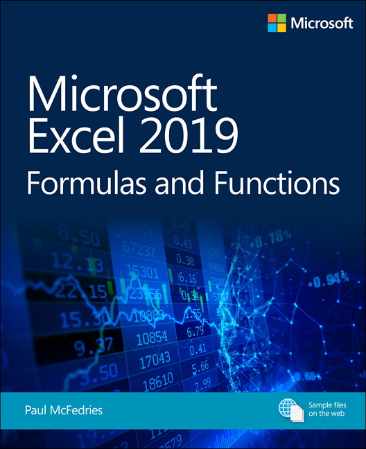 McFedries, Microsoft Excel 2019 Formulas And Functions