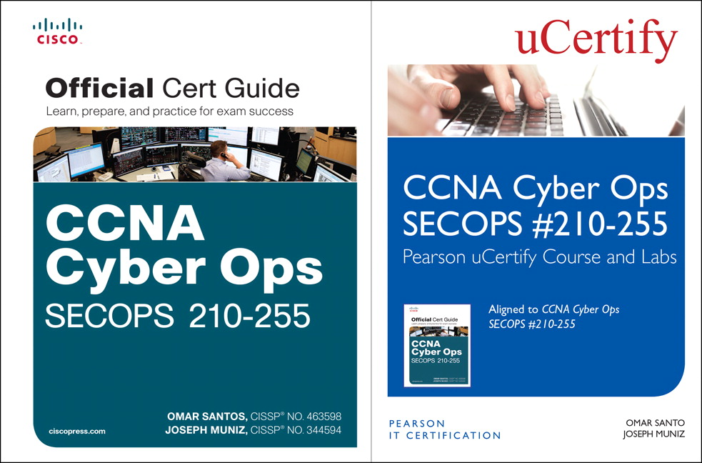 CCNA Cyber Ops SECOPS 210-255 Pearson uCertify Course and Labs and Textbook Bundle
